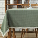 Comfy Tablelinen Comfy Home Checkered Tablecloth Lace Square Table Cover For Home Dinner Kitchen