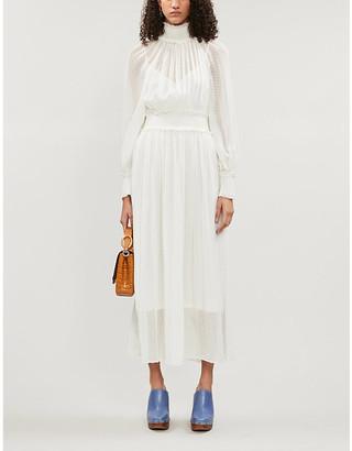 Zimmermann Super Eight high-neck silk-blend midi dress