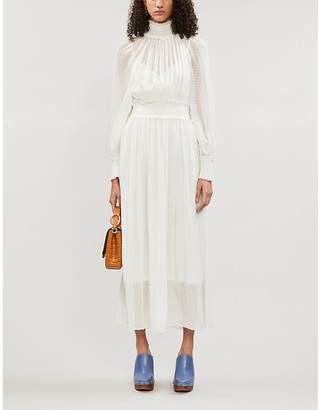 Zimmermann Super Eight high-neck silk-blend midi dress