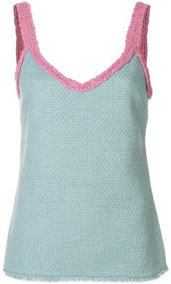 Chanel Pre Owned Crochet Detail Cami