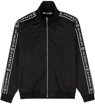 Givenchy Black logo-jacquard jersey track jacket