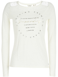 Superdry LACE BACK GRAPHIC TOP women's Long Sleeve T-shirt in White