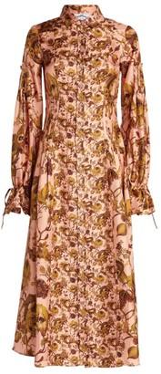 Evi Grintela Printed Silk Shirt Dress
