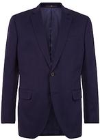 Jaeger Mercerised Cotton Regular Fit Suit Jacket, Navy