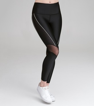 Mny Performance   Final Sale High Waist Compression Legging With Mesh Detail