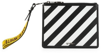 Off-White Diagonal Double Leather Pouch