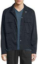 Vince Nylon Twill Shirt Jacket, Black
