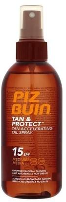 Piz Buin Tan & Protect Tan Accelerating Oil Spray Spf15 150Ml