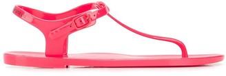 Emporio Armani Ea7 thong strap sandals