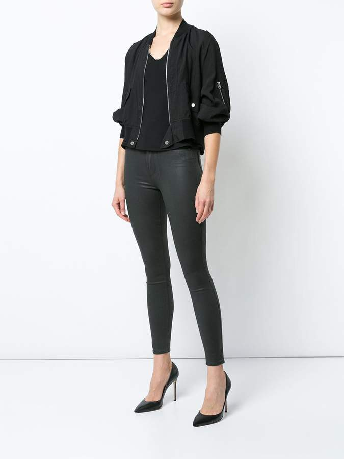 Paige waxed skinny jeans