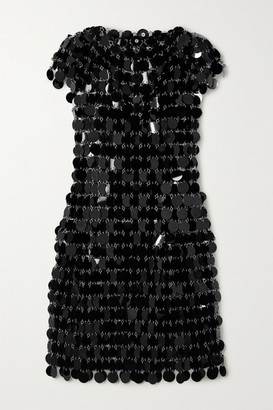 Paco Rabanne Paillette-embellished Chainmail Mini Dress - Black