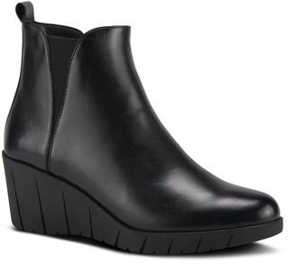 Spring Step Leather Wedge Booties - Medow