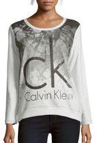 Calvin Klein Jeans Graphic Printed Cotton Sweatshirt