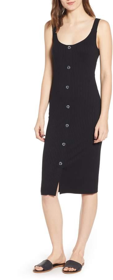 BP Button Front Midi Dress