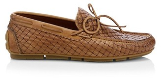 Aquatalia Brian Woven Leather Driver Loafers