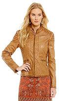 M.S.S.P. Faux Leather Moto Jacket