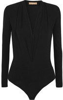 Michael Kors Stretch-crepe Bodysuit - Black