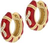 Lauren G. Adams Lauren G Adams Goldtone Epoxy Enamel Hoop Earring