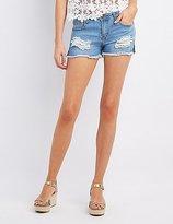 Charlotte Russe Machine Jeans Destroyed Denim Shorts