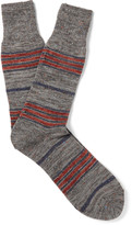 Anonymous Ism - Blanket Striped Mélange Knitted Socks