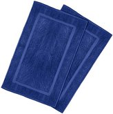 Ringspun Utopia Towels 21-Inch-by-34-Inch Cotton Washable Bath Mat, 2 Pack, Royal Blue