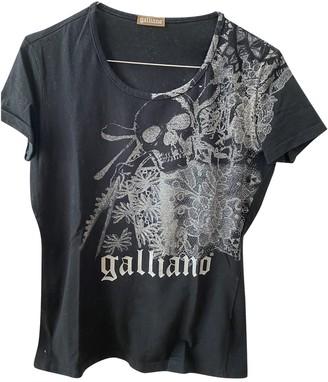 Galliano Black Cotton Top for Women