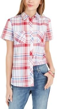 Tommy Hilfiger Cotton Plaid Camp Shirt