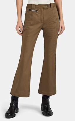 Proenza Schouler Women's Cotton Gabardine Crop Flared Pants - Khaki