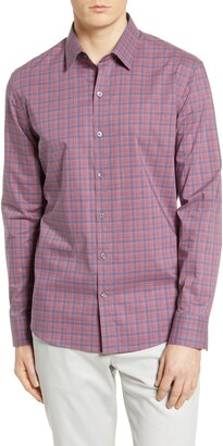 Zachary Prell Regular Fit Plaid Button-Up Shirt