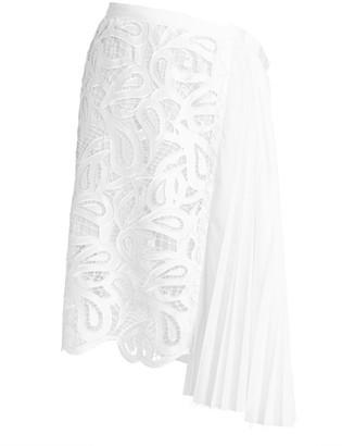 Sacai Paisley Asymmetric Lace Skirt