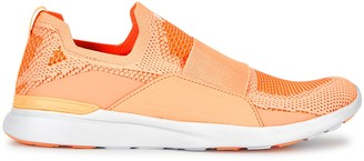 Athletic Propulsion Labs Techloom Bliss Peach Stretch-knit Sneakers