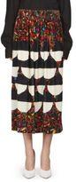 Dries Van Noten Silk Geometric-Print Skirt