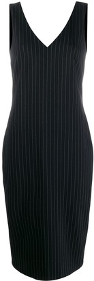 Styland Pinstripe Midi Dress