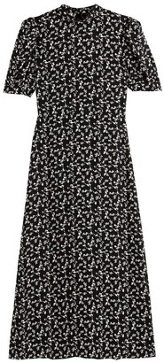 La Redoute Collections Floral Print Midaxi Dress with High-Neck