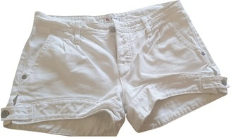 Cycle White Cotton Shorts for Women