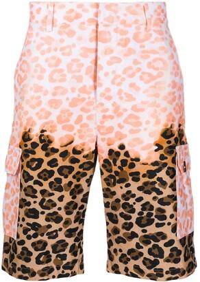 MSGM Leopard-Print Cargo Shorts