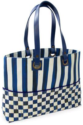 Mackenzie Childs MacKenzie-Childs Royal Check Bistro Tote Bag