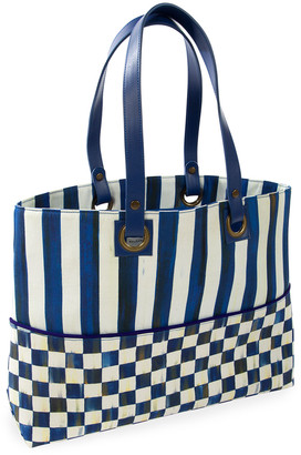 Mackenzie Childs Royal Check Bistro Tote Bag