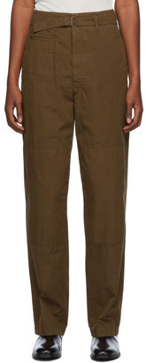 Lemaire Brown Cotton Trousers