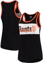 New Era Women's Black San Francisco Giants Racerback Baby Jersey Tank Top