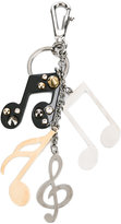 Dolce & Gabbana musical note key ring - men - metal/glass - One Size
