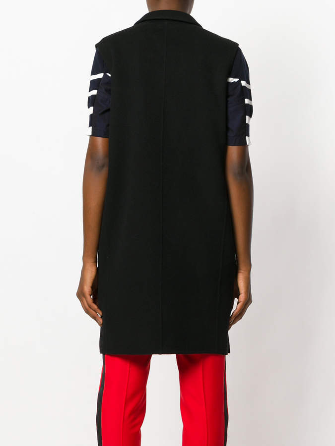 Theory long collared gilet