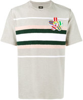 Fendi John Booth flower patch t-shirt - men - Cotton/Polyamide/Polyester/Viscose - 46