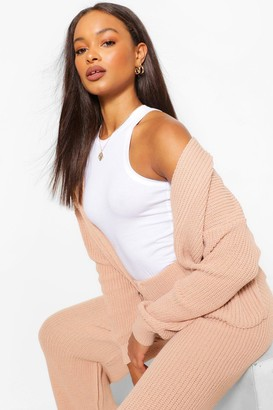 boohoo Crop Cardigan Wide Leg Knitted Coord