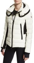 Moncler Lamoura Quilted Puffer Jacket, Cream