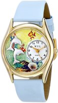 Whimsical Watches Kids' C0140007 Classic Dolphin Navy Blue Leather And tone Watch