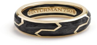 David Yurman Forged Carbon Band Ring in 18K Gold, 6mm