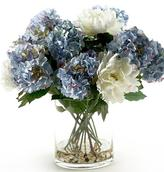 Hydrangeas and Peonies in Vase
