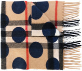 Burberry Kids classic print and polka dot scarf