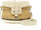 Khokho Jabu Leather-Trimmed Straw Shoulder Bag